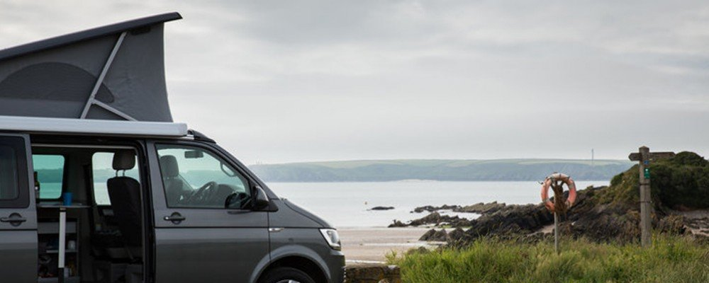 amper van road trip through Wales