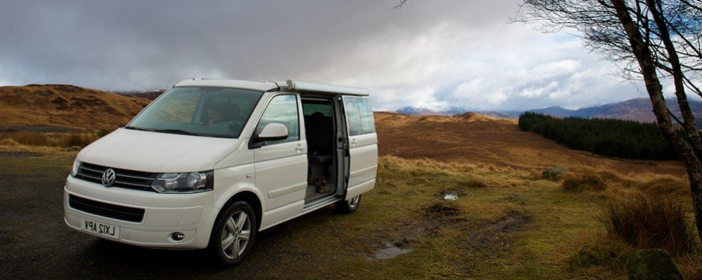 Wales tour VW California Camper Van